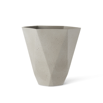 SENSUOUS HEX VASE 2 CEMENT